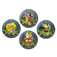 Paladone Products Crash Bandicoot Lenticular Coaster 4-Pack