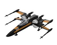Revell Star Wars Build & Play Model Kit with Sound & Light Up 1/78 Poe's Boosted X-Wing Fighter