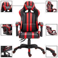 Gamingstoel PU rood
