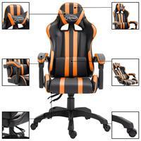 Gamingstoel PU oranje