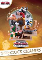 Beast Kingdom Toys Disney Mickey Mouse D-Stage PVC Diorama Clock Cleaners 15 cm