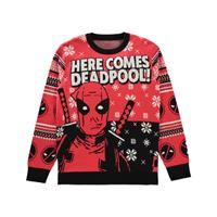 Difuzed Deadpool Knitted Christmas Sweater Here comes Deadpool! Size XL