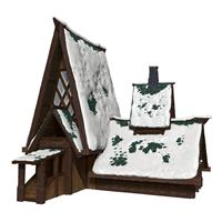 Wizkids D&D Icons of the Realms Icewind Dale: Rime of the Frostmaiden Papercraft Set The Lodge