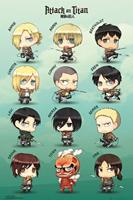 GB eye Attack on Titan Poster Pack Chibi Characters 61 x 91 cm (5)