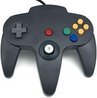 Teknogame Nintendo 64 Controller Zwart ()