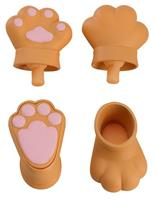 Good Smile Company Original Character Parts for Nendoroid Doll Figures Animal Hand Parts Set (Brown)