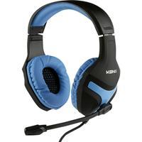 konix Nemesis Headset Gaming headset 3.5 mm jackplug Kabelgebonden Over Ear Zwart-blauw