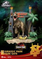 Beast Kingdom Toys Jurassic Park D-Stage PVC Diorama Park Gate 15 cm