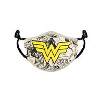Difuzed Wonder Woman Face Mask Comic Logo