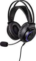 Renkforce RF-GHD-200 Gaming headset 3.5 mm jackplug Kabelgebonden Over Ear Zwart