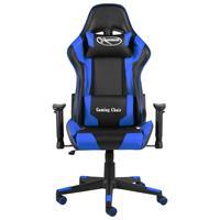 vidaXL Gamestoel draaibaar PVC blauw