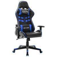 vidaXL Gamestoel kunstleer zwart en blauw