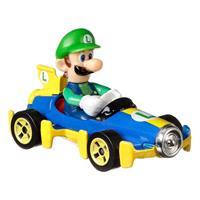 Mattel Hot Wheels Mario Kart Hot Wheels Diecast Vehicle 1/64 Luigi (Mach 8) 8 cm