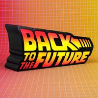 Fizz Creations Back to the Future LED-Light Logo 25 cm