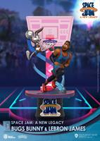 Beast Kingdom Toys Space Jam: A New Legacy D-Stage PVC Diorama Bugs Bunny & Lebron James Standard Version 15 cm