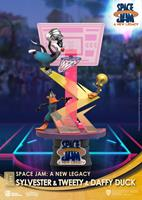 Beast Kingdom Toys Space Jam: A New Legacy D-Stage PVC Diorama Sylvester & Tweety & Daffy Duck Standard Ver. 15 cm