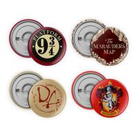 SD Toys Harry Potter Pin-Back Buttons 4-Pack Collection