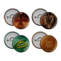 SD Toys Lord of the Rings Pin-Back Buttons 4-Pack Collection