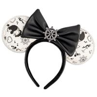 Loungefly Disney by  Headband Steamboat Willie Ears Bow Rope Piping