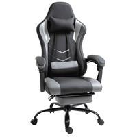 Vinsetto Ergonomische gaming stoel kantoorstoel kantoorstoel met voetsteunen zwart