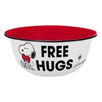 Geda Labels Peanuts Enamel Look Bowl Free Hugs
