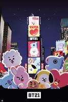 GBeye BT21 Times Square Poster 61x91,5cm