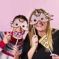 Thumbs Up Pusheen Party Photo Booth Kit