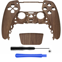 Consoleskins PS5 Controller Behuizing Shell - Wood - Front Shell (BDM-010)