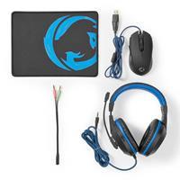 Nedis Gaming Combo-Kit | 3 in 1 | Headset, Muis en Muismat