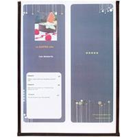 Securit Crystal menuhouder enkel - 3