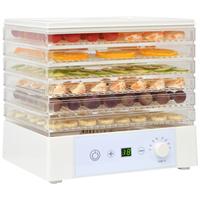VidaXL Voedseldroger met 6 lades 250 W wit