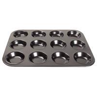 Vogue koolstofstalen antikleef bakvorm 12 mini-muffins