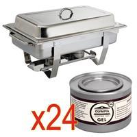 Olympia SPECIALE AANBIEDING  Milan Chafing Dish met x24  brandpasta gel