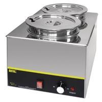 Buffalo Foodwarmer , dubbel, 2x5,2L, 230V/1300W, incl potten