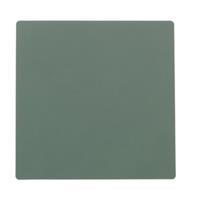 LIND DNA Onderzetter Leer Nupo Pastel Groen 10 x 10 cm