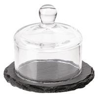 Hvs-select APS slate leistenen botervloot met glazen deksel