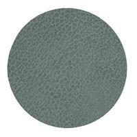 LIND DNA Onderzetter Leer Hippo Pastel Groen Ø 10 cm