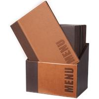 Securit Menubox Trendy, A4, Licht Bruin, incl. 20 menukaarten