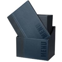 Securit Menubox Trendy, A4, Blauw, incl. 20 menukaarten