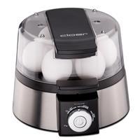 cloer 6070 Eierkoker voor 7 Eieren 15x21x18 cm 435W Zwart/Zilver RVS