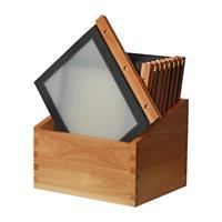 securit menumappen set met houten box A4 zwart - 20