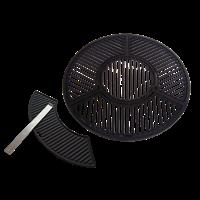 Gietijzeren grill combinatie set voor 57 CM Kogel BBQ's