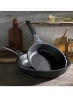 GSW Set van 2 koekenpannen Easy Click  zwart