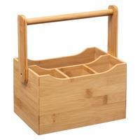 Decopatent Bestek Organizer - Bamboe Hout - 4 Vakken - Keuken