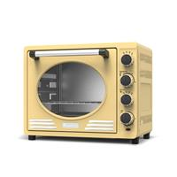 Turbotronic Ev35 Retro Rvs Elektrische Oven 35 Liter - Creme