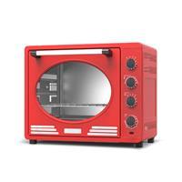 Turbotronic Ev35 Retro Rvs Elektrische Oven 35 Liter - Rood