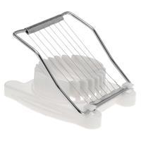 Voordelige Witte Eiersnijder Rvs 17 Cm - Keuken Benodigdheden - Ei Snijden