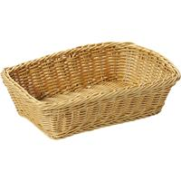 Gevlochten Fruitmand/broodmand Rechthoekig 20 X 30 X 8,5 Cm - Tafel Dekken - Fruitmanden/fruitschalen - Broodmanden
