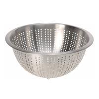 Zilveren Rvs Vergiet/zeef 28 X 13 Cm - Keukenbenodigdheden - Kookgerei - Zeven - Vergieten Van Rvs