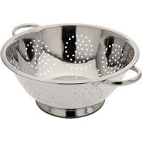 Zilveren Rvs Vergiet/zeef 29 X 13 Cm - Keukenbenodigdheden - Kookgerei - Zeven - Vergieten Van Rvs
